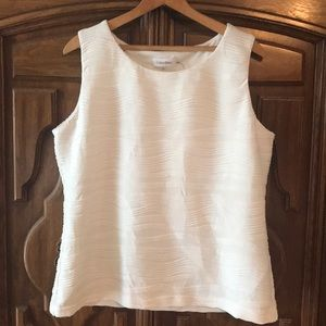 Off white ribbed tank top